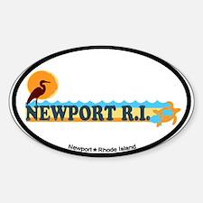 Newport Beach RI - Beach Design Decal