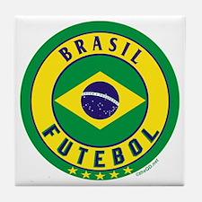 Brasil Futebol/Brazil Soccer Tile Coaster