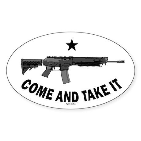 Come & Take It (3) Sticker (Oval)