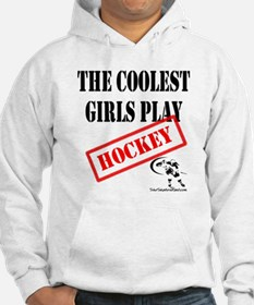 Funny Play girls hockey Hoodie
