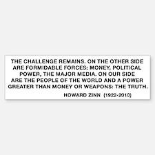 Howard Zinn Bumper Bumper Sticker