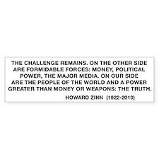 Howard Zinn Bumper Sticker