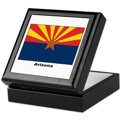 Arizona State Flag Keepsake Box