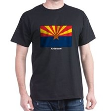 Arizona State Flag (Front) Black T-Shirt