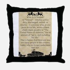 What is a Veteran Throw Pillow