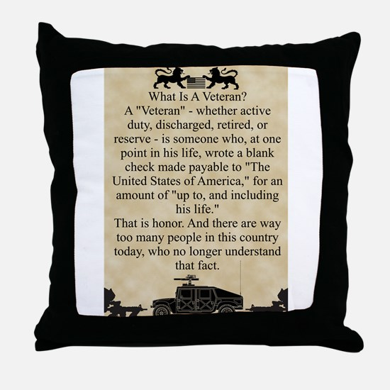 What is a Veteran Throw Pillow