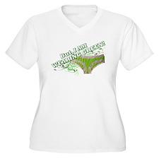 green underware ladies T-Shirt