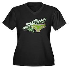 green underware ladies Women's Plus Size V-Neck Da