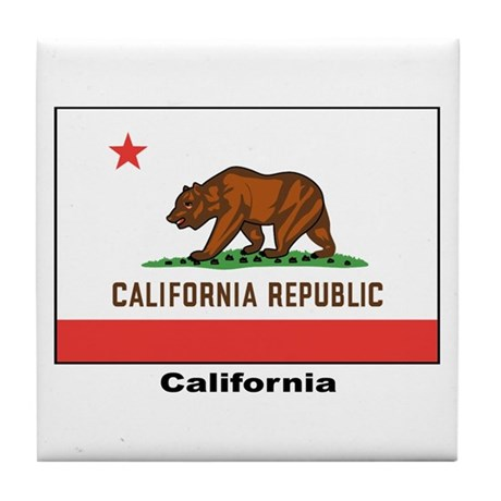 California State Flag Tile Coaster