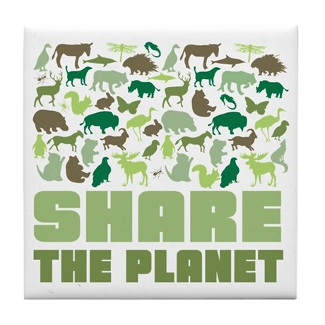 Share The Planet Tile Coaster