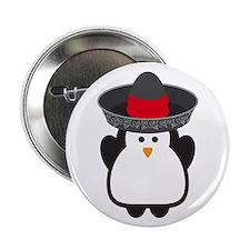 """Cinco De Mayo Penguin 2.25"""" Button"""