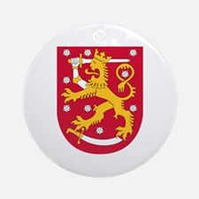 Finland Coat of Arms Ornament (Round)
