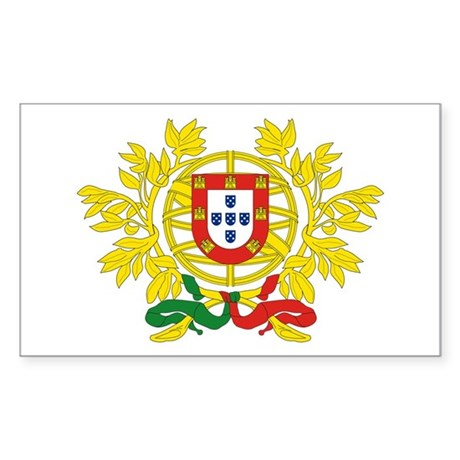 Portugal Coat of Arms Sticker (Rectangle)