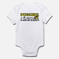 Snowmobiling Is the Answer Infant Bodysuit