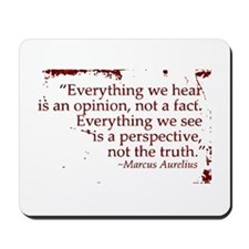 Everything we hear is an opin Mousepad