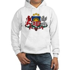 Latvia Coat of Arms (Front) Hoodie