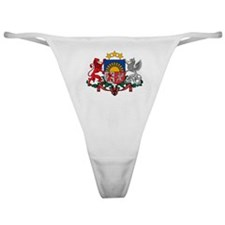 Latvia Coat of Arms Classic Thong
