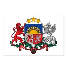 Latvia Coat of Arms Postcards (Package of 8)