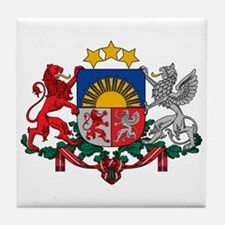 Latvia Coat of Arms Tile Coaster