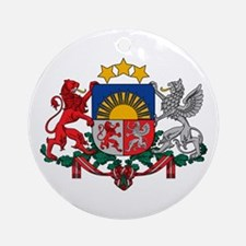 Latvia Coat of Arms Ornament (Round)
