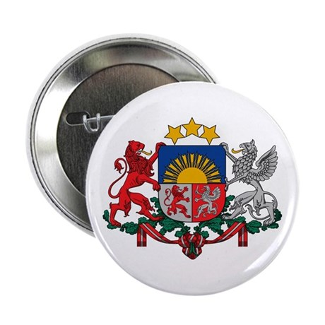 """Latvia Coat of Arms 2.25"""" Button"""
