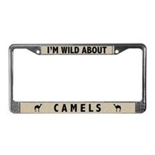 Wild About Camels License Plate Frame