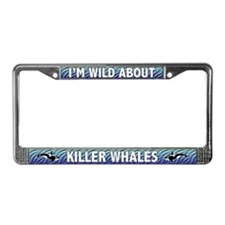 Wild About Killer Whales License Plate Frame