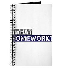 What Homework? Journal
