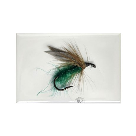 Cowdung Wet Fly Rectangle Magnet (10 pack)