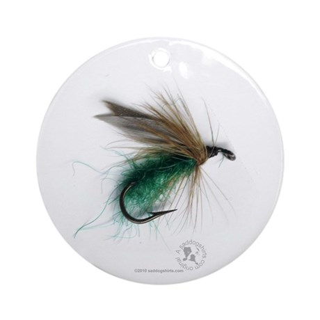 Cowdung Wet Fly Ornament (Round)