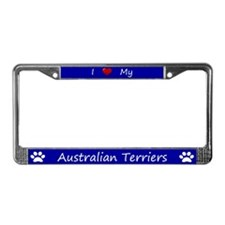 Blue I Love My Australian Terriers Frame