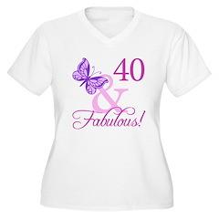 40 & Fabulous (Plumb) T-Shirt