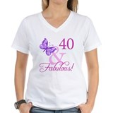 40th birthday Womens V-Neck T-shirts