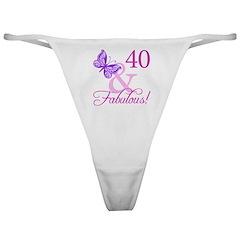 40 & Fabulous (Plumb) Classic Thong