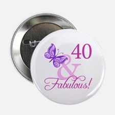"40 & Fabulous (Plumb) 2.25"" Button"