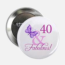 "40 & Fabulous (Plumb) 2.25"" Button (10 pack)"