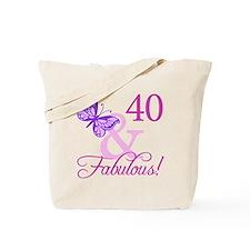 40 & Fabulous (Plumb) Tote Bag
