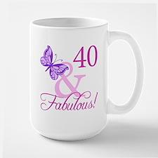 40 & Fabulous (Plumb) Mug