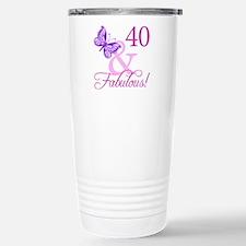 40 & Fabulous (Plumb) Stainless Steel Travel Mug