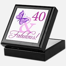 40 & Fabulous (Plumb) Keepsake Box