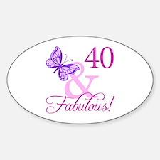 40 & Fabulous (Plumb) Decal