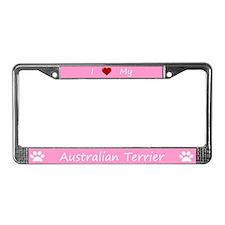 Pink I Love My Australian Terrier Frame