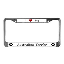 White I Love My Australian Terrier Frame