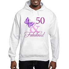 50 & Fabulous (Plumb) Hoodie