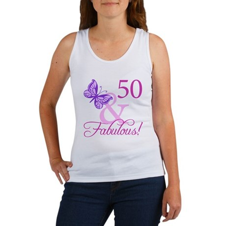 50 & Fabulous (Plumb) Women's Tank Top