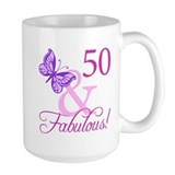 50th birthday women Large Mugs (15 oz)