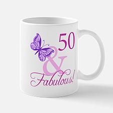 50 & Fabulous (Plumb) Mug