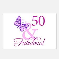 50 & Fabulous (Plumb) Postcards (Package of 8)