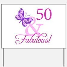 50 & Fabulous (Plumb) Yard Sign