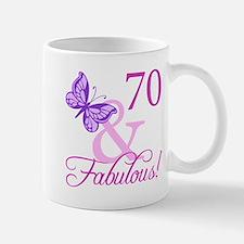 70 & Fabulous (Plumb) Small Small Mug